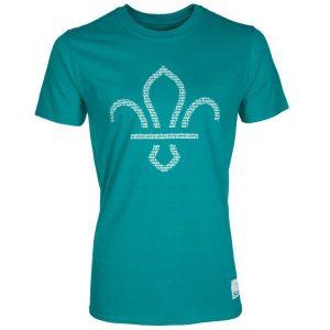 Fleur de Lis Scouts Front Print T-Shirt Teal